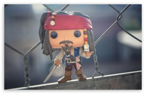 Download Jack Sparrow - Funko Pop Figure UltraHD Wallpaper