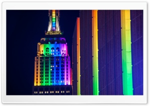 Empire State Building Rainbow...