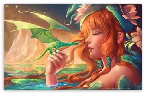 Download Mini Dragon UltraHD Wallpaper