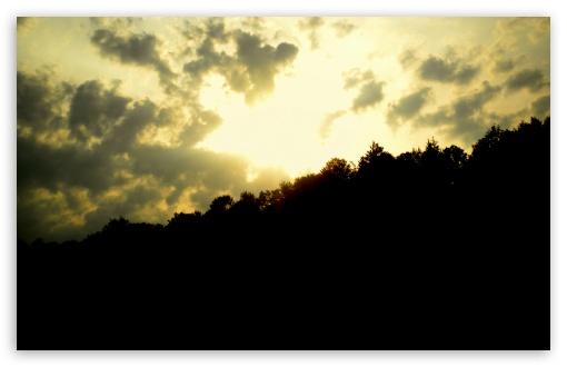 Download Sunset Over The Hill UltraHD Wallpaper