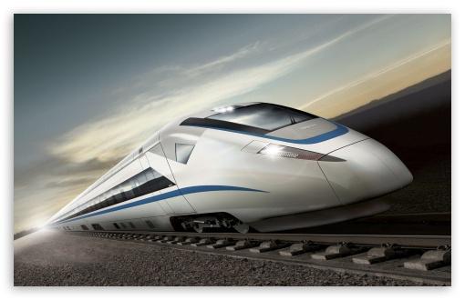 Download High Speed Train UltraHD Wallpaper