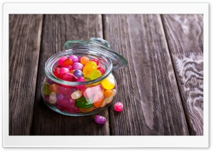 Candy Jar Colorful Candies...