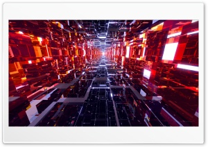 Black and Red Mirrored Tunnel