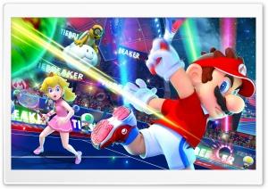 Mario and Peach - Tennis