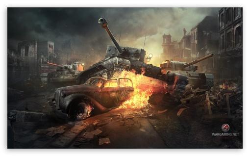 Download World of Tanks Online Game UltraHD Wallpaper