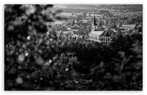 Download Village Black and White Photography UltraHD Wallpaper