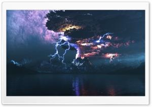 Volcano Eruption Lightning