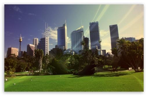 Download City Park Abstract UltraHD Wallpaper