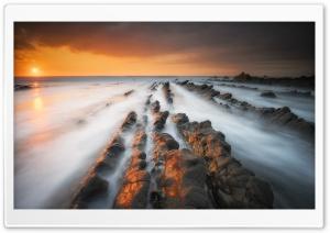Mist, Sea, Rocks, Sunset,...