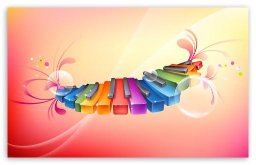 Download Rainbow Piano Keyboards UltraHD Wallpaper