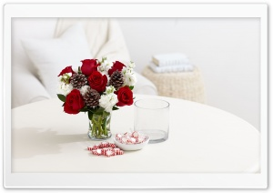 Red Roses, Pine Cones and...