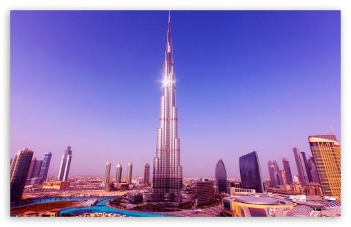 Download World's Tallest Tower Burj Khalifa UltraHD Wallpaper