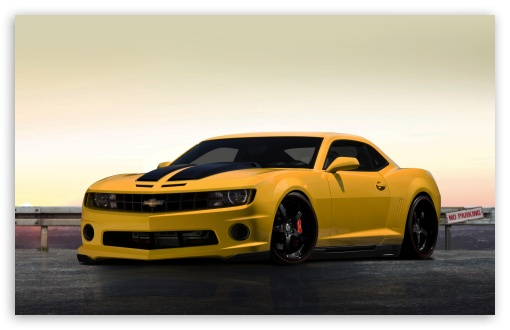 Download Chevrolet Camaro Yellow UltraHD Wallpaper