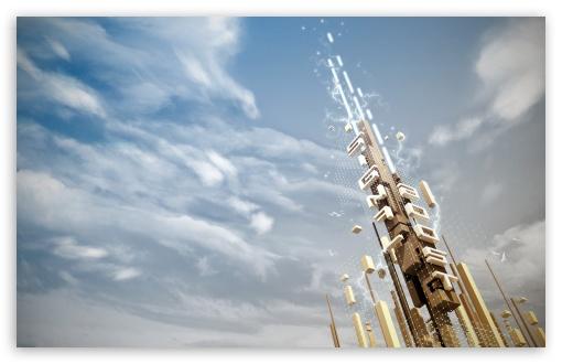 Download Digital Tower UltraHD Wallpaper