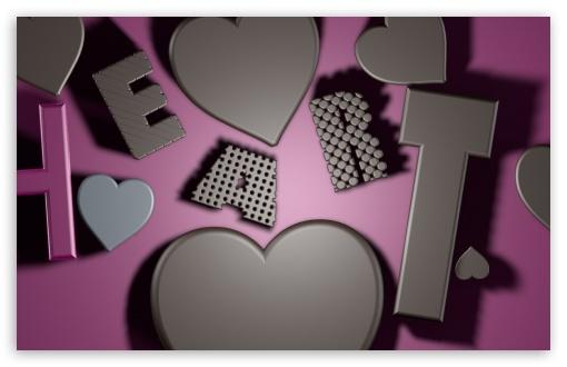 Download Heart Chocolate UltraHD Wallpaper