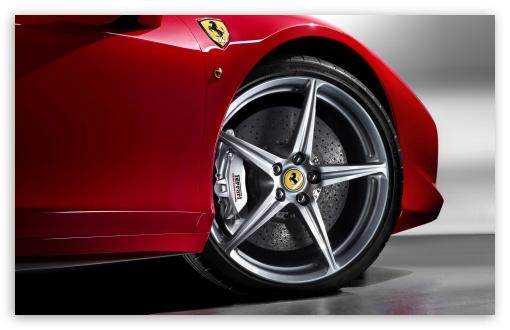 Download 2010 Ferrari 458 Italia Wheel UltraHD Wallpaper