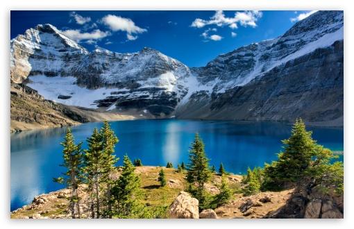 Download Nature, Mountain Landscape, Blue Lake UltraHD Wallpaper