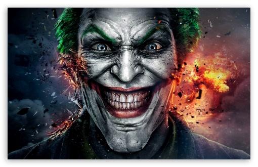 Download Injustice God Among Us Joker Face UltraHD Wallpaper