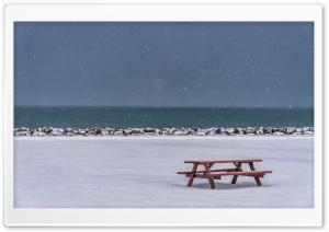 Picnic Table, Winter Snow