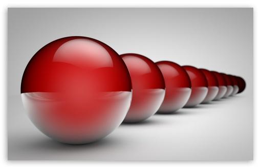 Download Shiny Balls in a Row UltraHD Wallpaper
