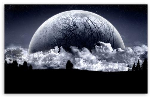 Download Huge Moon UltraHD Wallpaper