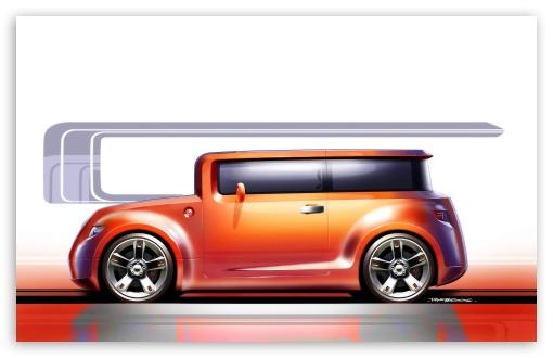 Download Scion Hako Concept Sketch2 UltraHD Wallpaper