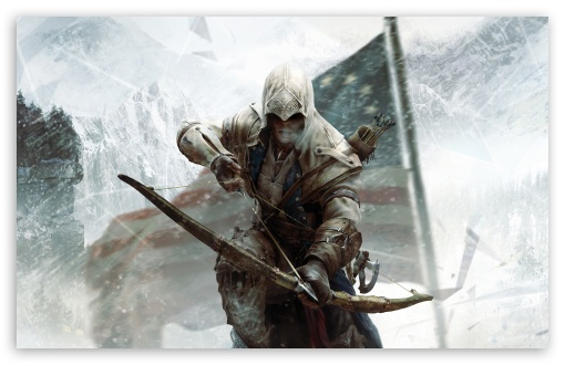 Download Assassin's Creed 3 Connor Bow UltraHD Wallpaper