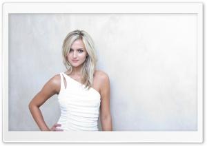 Blonde Woman In White Dress
