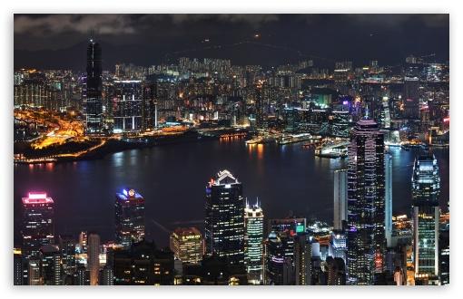 Download Hong Kong Skyline UltraHD Wallpaper