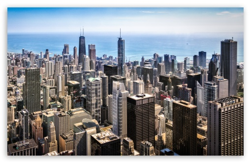 Download Skydeck Chicago City View UltraHD Wallpaper
