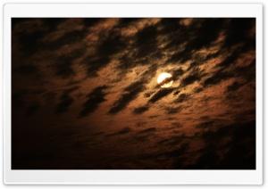 Sun in the dark sky