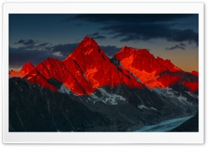 Alpenglow over the Argentiere...