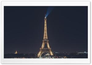 Eiffel Tower at Night, Paris,...
