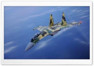 SU-35 Fighter In Air