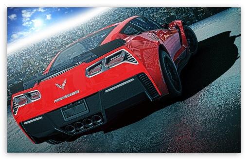 Download Red Chevrolet Corvette C7 UltraHD Wallpaper