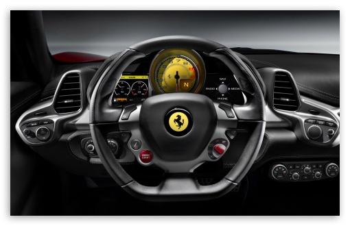 Download 2010 Ferrari 458 Italia   Steering Wheel UltraHD Wallpaper