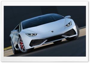 White Lamborghini Huracan
