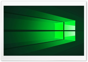 Windows 10 Green in 4K UHD