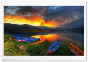 Boats, Lake Scenery