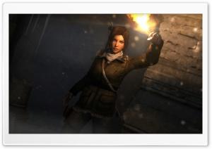 Lara Croft Researching...