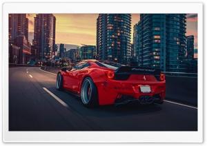Red Ferrari Car