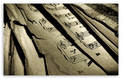 Download Old Music Sheets UltraHD Wallpaper