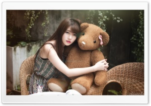 Asian Girl, Teddy Bear