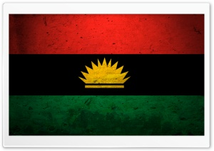 Grunge Flag Of Biafra