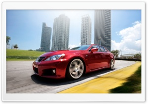 Lexus IS F Red