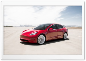 Tesla Model 3 Electric Car - Red