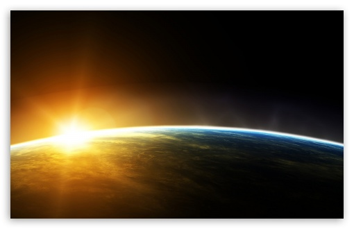 Download Earth Sunrise Space UltraHD Wallpaper