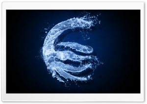 Water Euro Sign