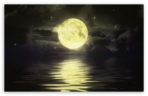 Download Moon and Stars UltraHD Wallpaper