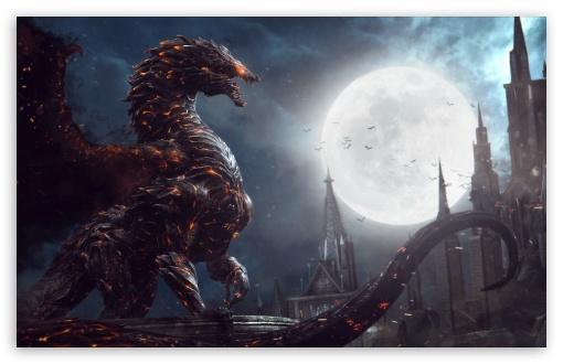 Download Castlevania Lords Of Shadow 2 Dragon Form UltraHD Wallpaper